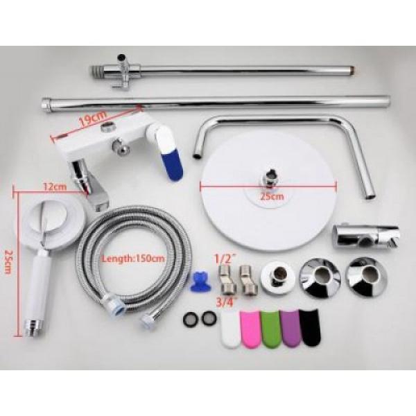 Душевая система излив является переключателем на лейку белый/хром frap f2434