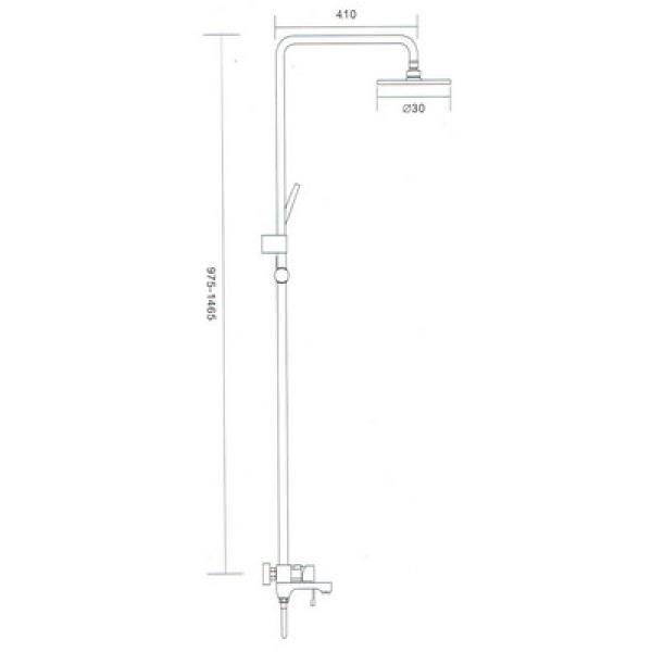 Душевая система излив является переключателем на лейку белый/хром gappo g2402-8
