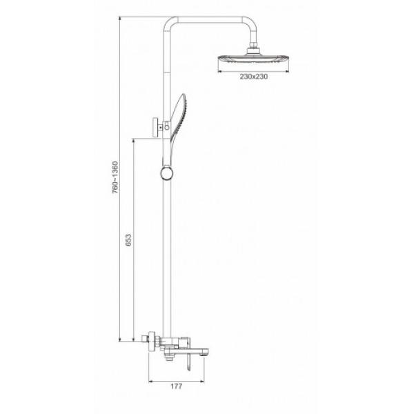 Душевая система излив является переключателем на лейку белый/хром gappo g2448