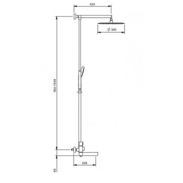 Душевая система излив является переключателем на лейку черный/хром gappo g2481