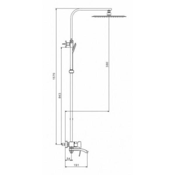 Душевая система излив является переключателем на лейку хром gappo g2407
