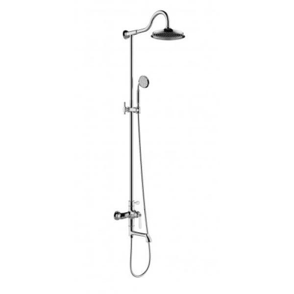 Душевая система с верхним душем смесителем и ручной лейкой хром g2469