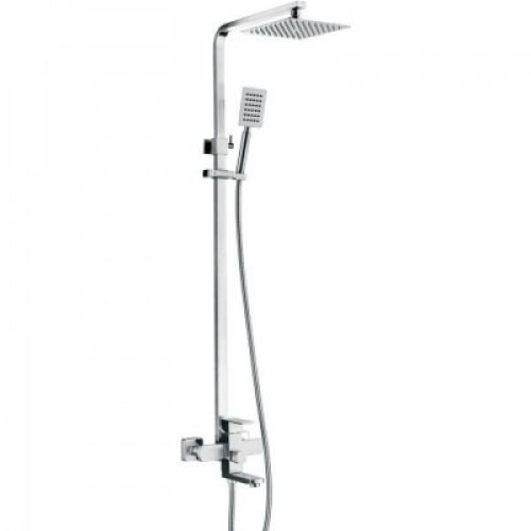 Душевая система с верхним душем смесителем и ручной лейкой из нержавеющей стали frap f24802