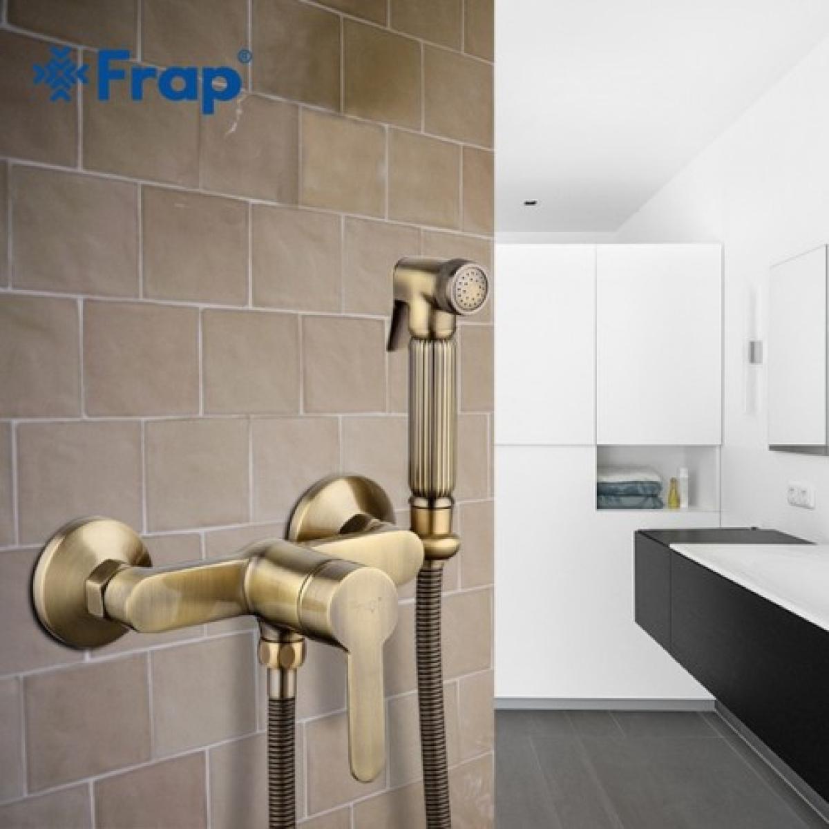 Гигиенический душ со смесителем бронза frap f2041-4