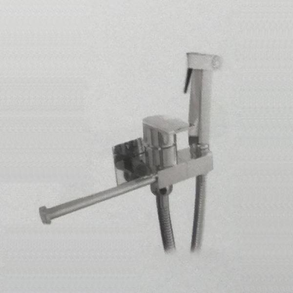 Гигиенический душ со смесителем и бумагодержателем  латунь хром frap f7512