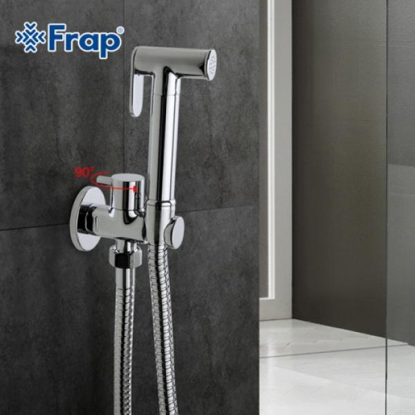 Гигиенический душ со смесителем латунь/хром frap f7501