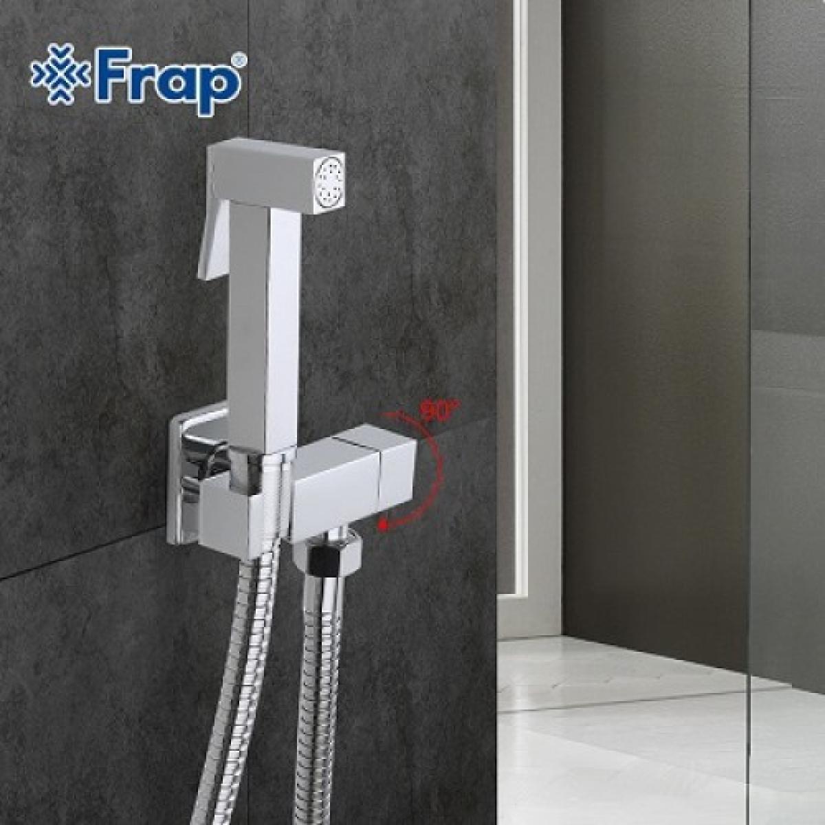 Гигиенический душ со смесителем латунь/хром frap f7502