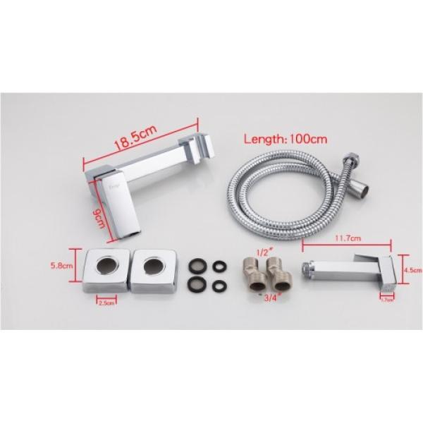 Гигиенический душ со смесителем латунь/хром frap f7504