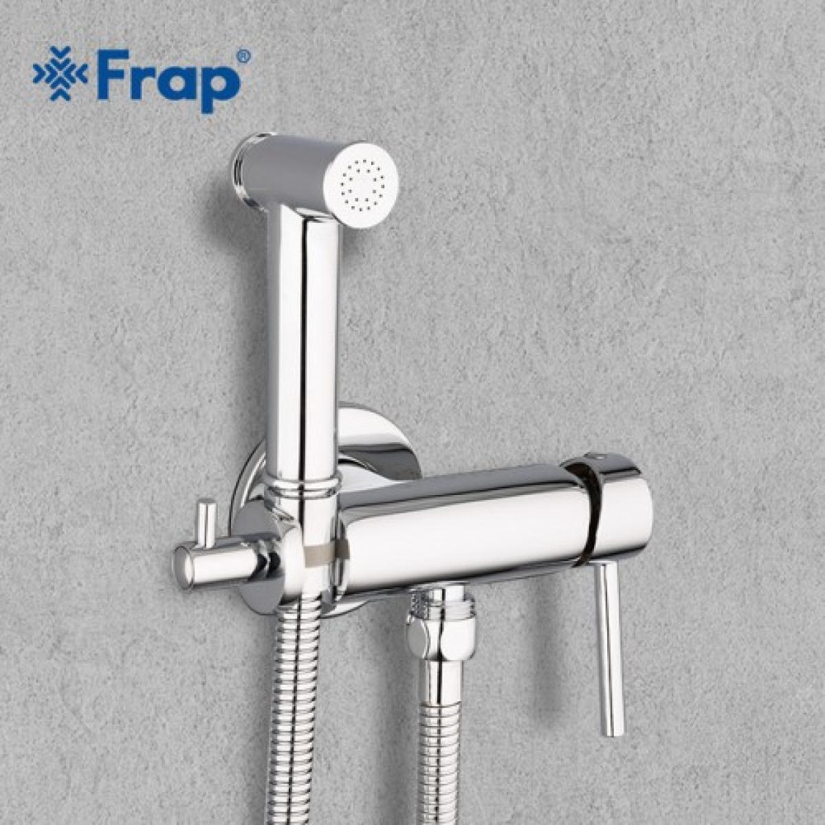 Гигиенический душ со смесителем латунь/хром frap f7507
