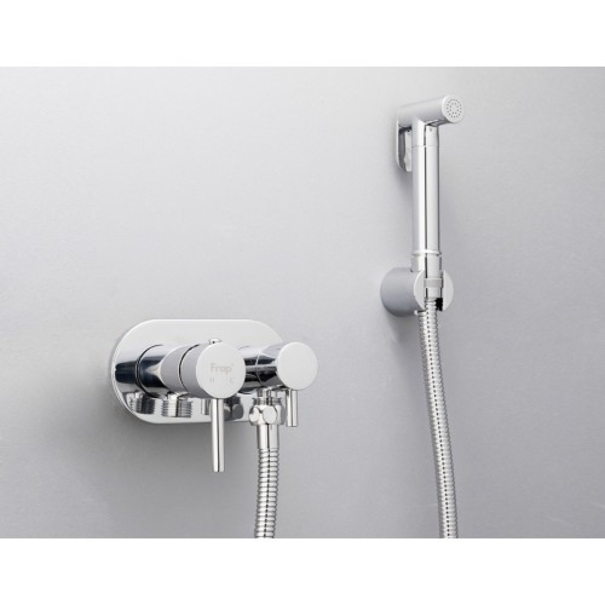 Гигиенический душ со смесителем латунь/хром frap f7508