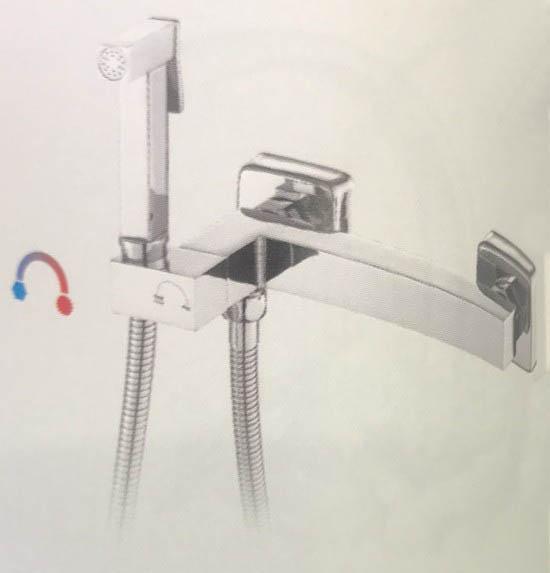 Гигиенический душ со смесителем латунь/хром frap f7511