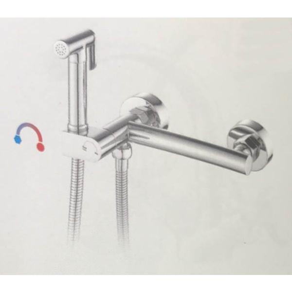 Гигиенический душ со смесителем латунь/хром frap f7510