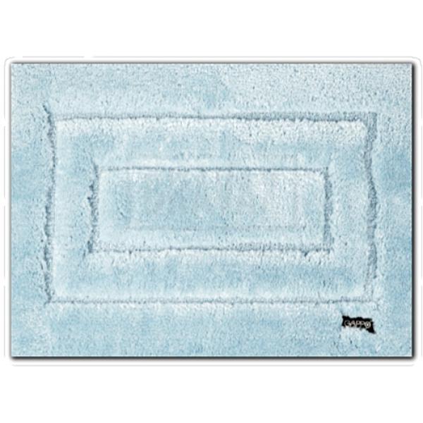 Коврик для ванной полиэстер голубой 50х80 см gappo g85401