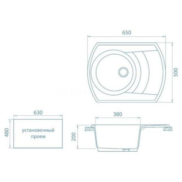Кухонная мойка gerhans a01
