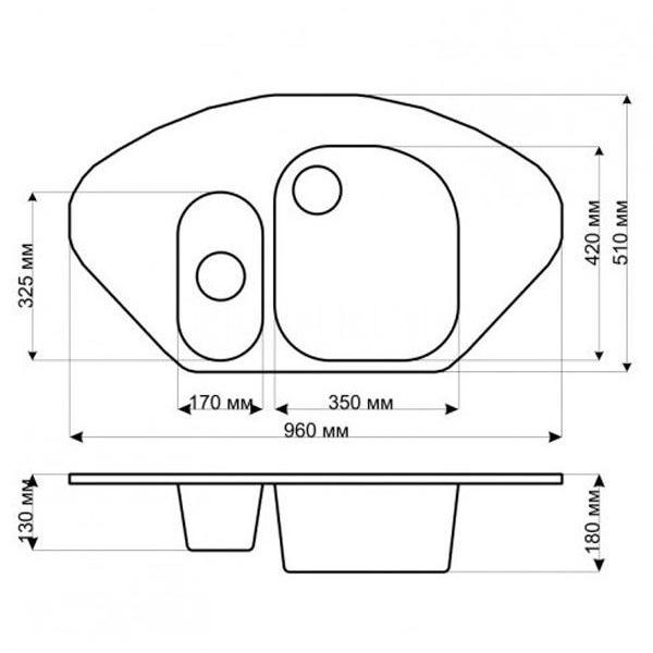 Кухонная мойка gerhans e02