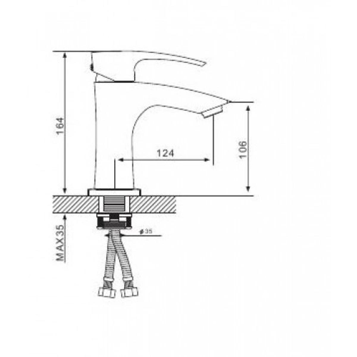Смеситель для раковины с гайкой белый/хром gappo g1007-7