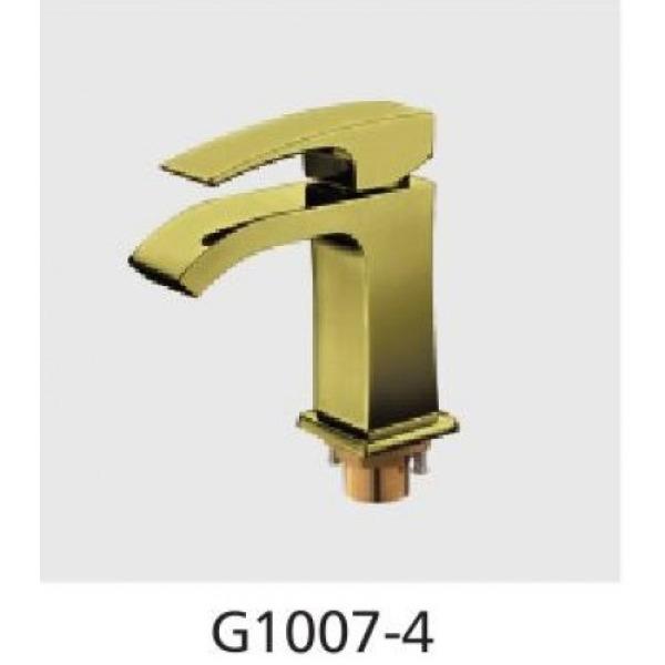 Смеситель для раковины с гайкой бронза g1007-4