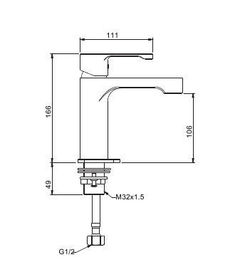Смеситель для раковины с гайкой хром gappo g1002-2