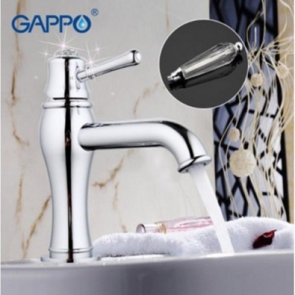 Смеситель для раковины с хрустальными ручками хром gappo g1097
