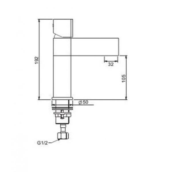 Смеситель для раковины с поворотным изливом на 360 градусов черный/хром g1081