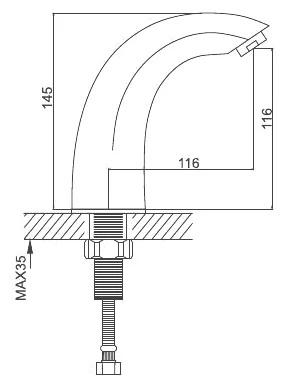 Смеситель для раковины сенсорный хром gappo g517