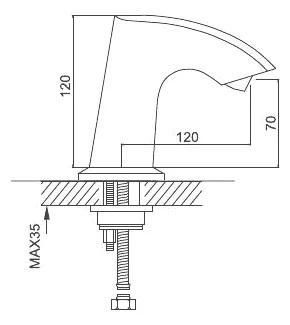 Смеситель для раковины сенсорный хром gappo g518