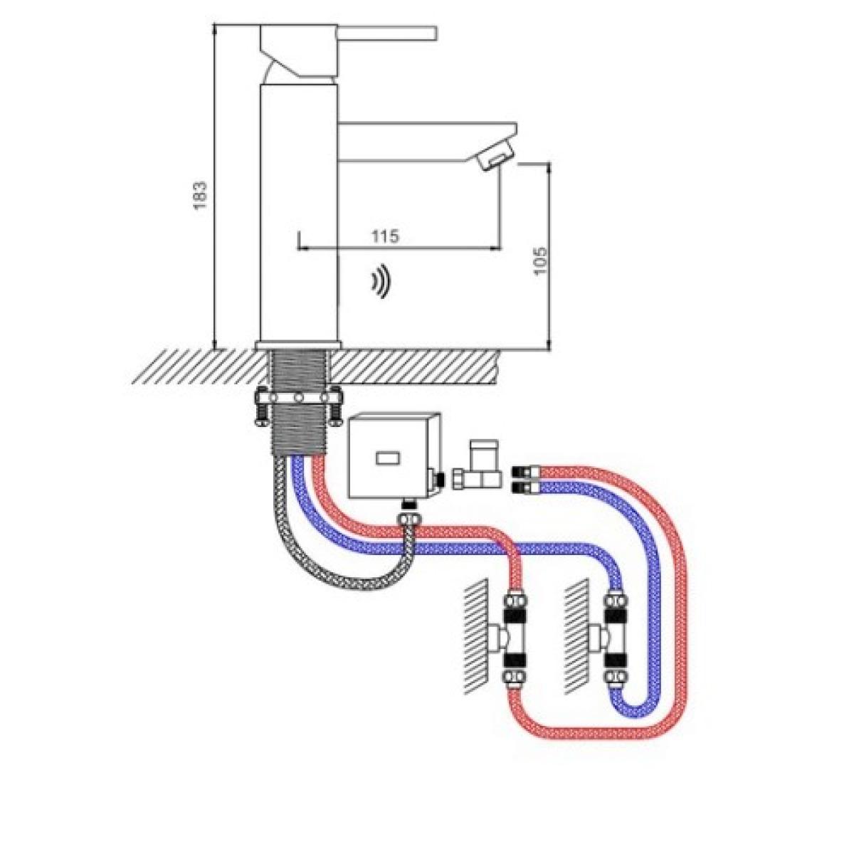 Смеситель для раковины сенсорный + механизм с гайкой бронза gappo g520