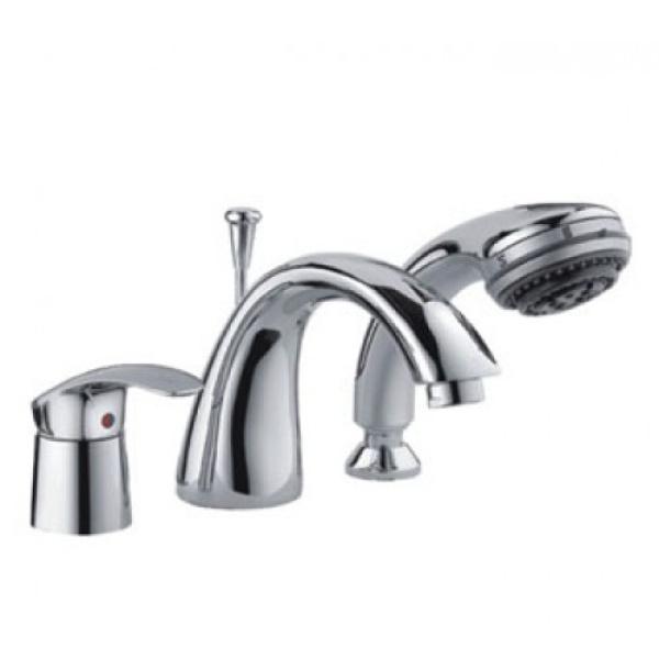 Смеситель для ванны на 3 отверстия хром frap f1121