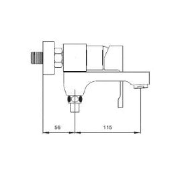 Смеситель для ванны с изливом служит переключателем на лейку белый/хром gappo g3202-8