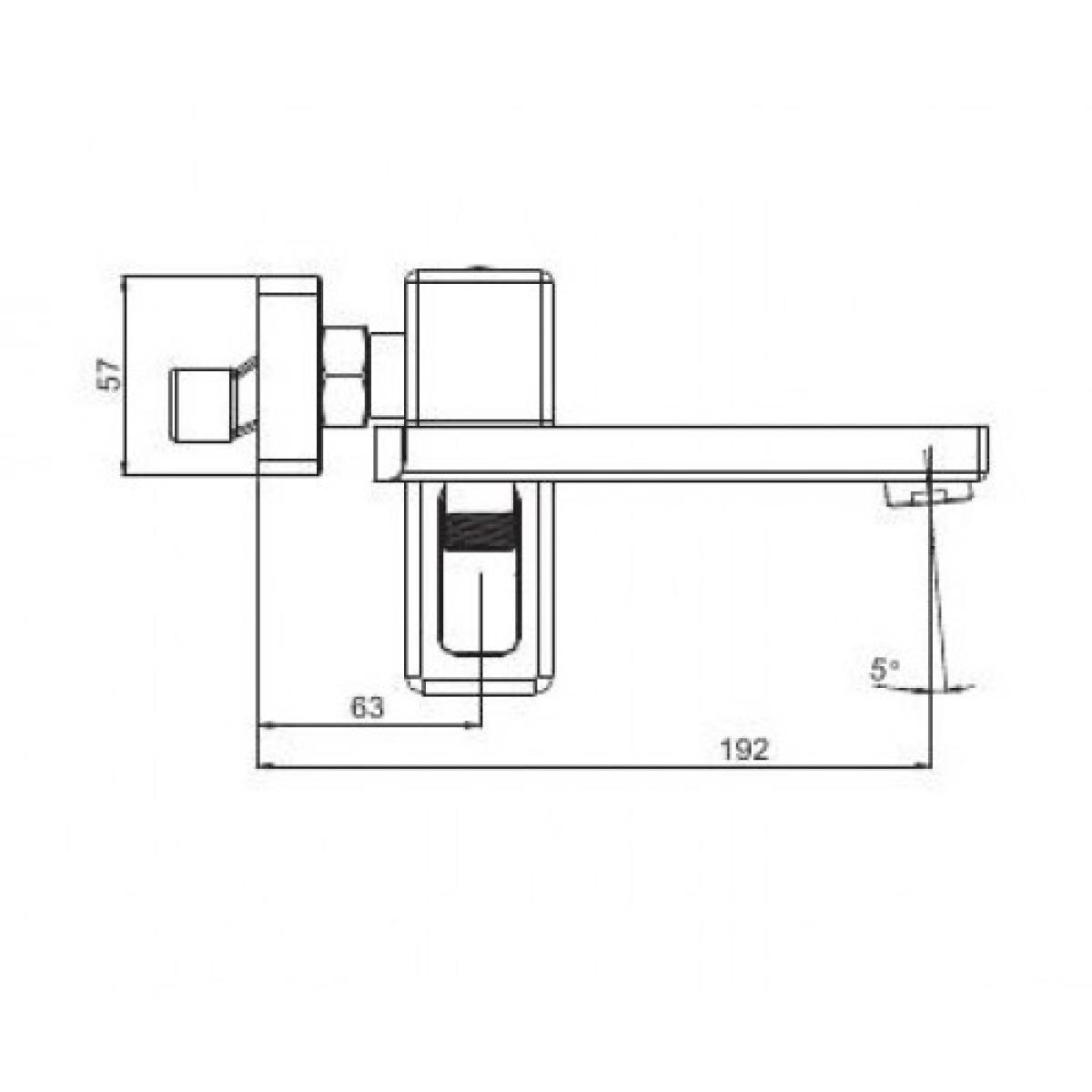 Смеситель для ванны с изливом служит переключателем на лейку белый/хром gappo g3217-8