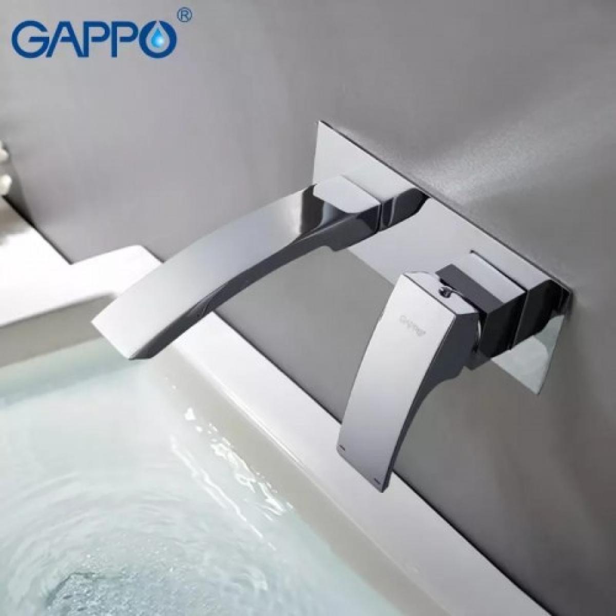 Встраиваемый смеситель для раковины хром gappo g1007-2