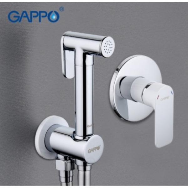 Встроенный гигиенический душ белый/хром gappo g7248