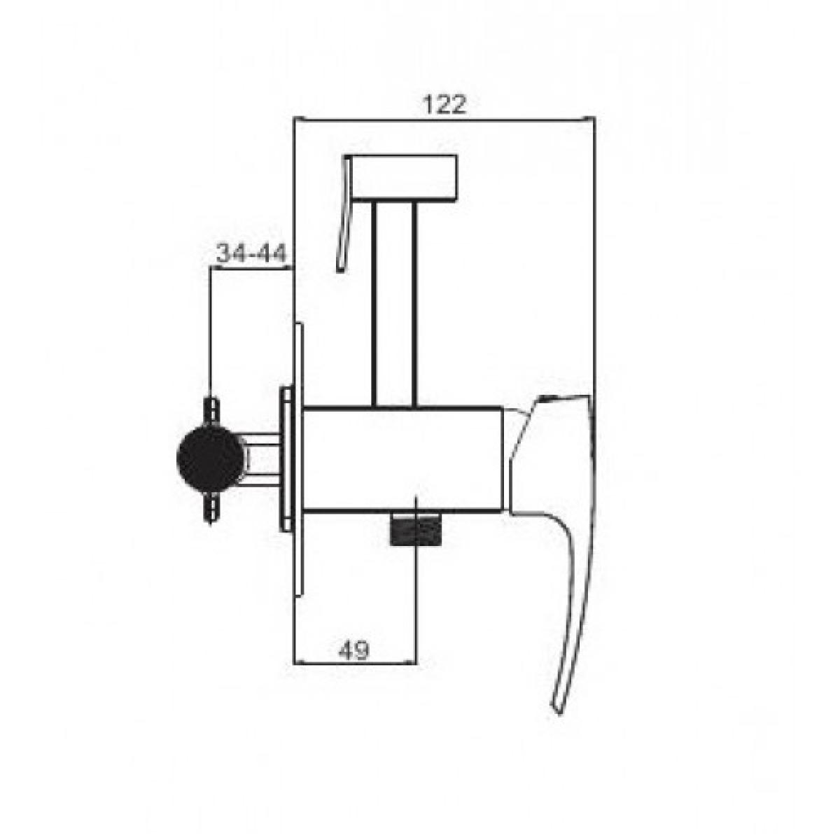 Встроенный гигиенический душ бронза gappo g7207-4