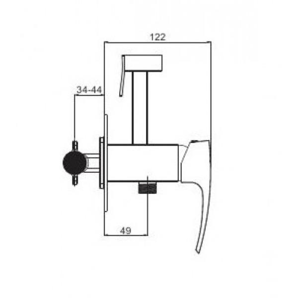 Встроенный гигиенический душ хром gappo g7207-1