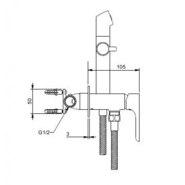 Встроенный гигиенический душ хром gappo g7248-1