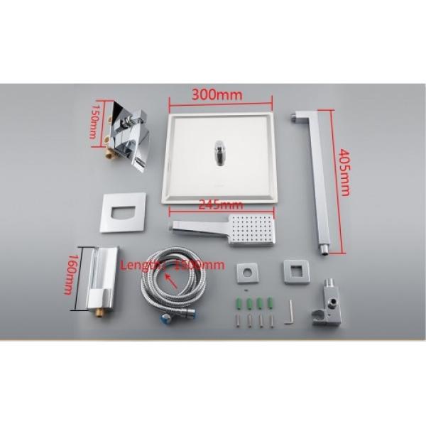 Встроенный смеситель для ванны с 3 функциями хром gappo g7107-20