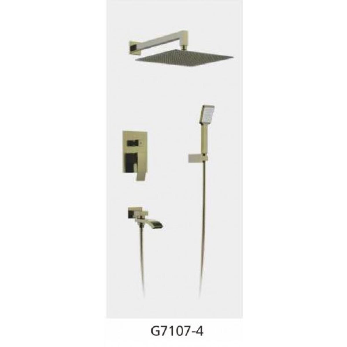 Встроенный смеситель для ванны с 3-функциями излив является переключателем на лейку бронза gappo g7107-4
