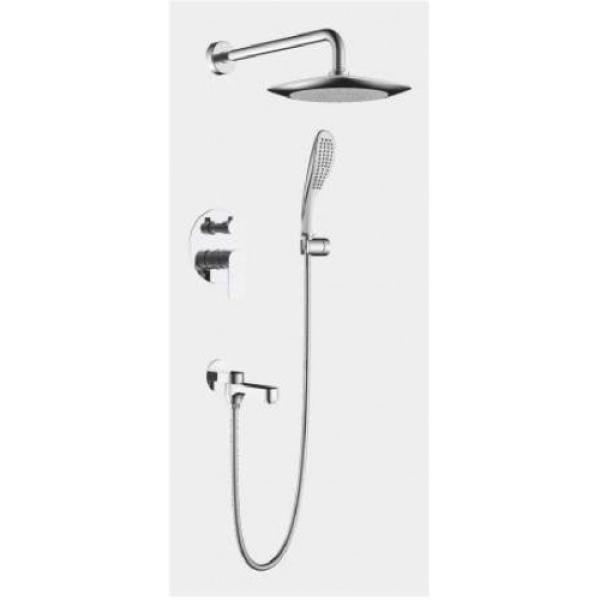 Встроенный смеситель для ванны с 3-функциями излив является переключателем на лейку хром gappo g7148